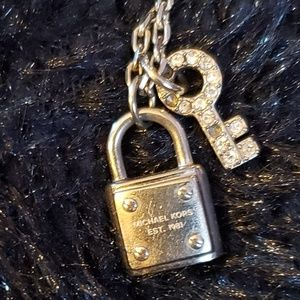 Michael Kors Padlock & Key necklace